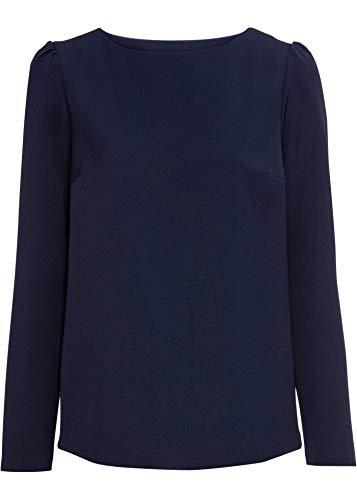 bonprix Bluse mit Spitzeneinsatz und U-Boot-Ausschnitt dunkelblau 54 für Damen
