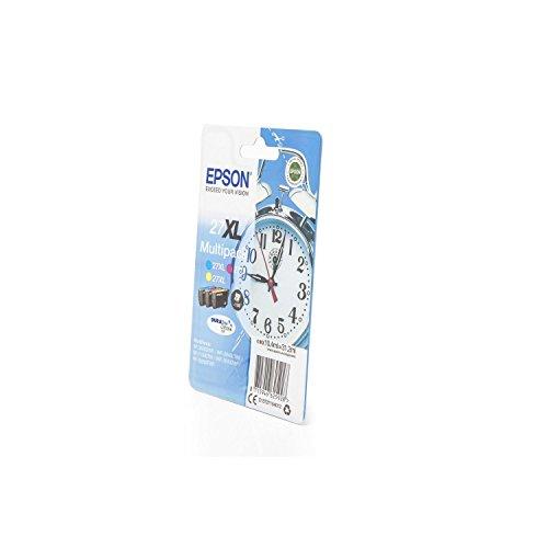 Original Epson C13T27154010 / 27XL, für Workforce WF-7720 DTWF 3X Premium Drucker-Patrone, Cyan, Magenta, Gelb, 3X 1100 Seiten, 3 x 10,4 ml