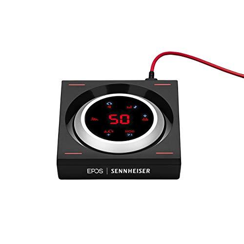 EPOS I SENNHEISER GSX 1200 PRO professioneller Gaming-Audioverstärker mit 7.1 Surround Sound, separater Regelung für Spiel-Audio und Chat (Kopfhörerverstärker für Windows PC und Mac) schwarz