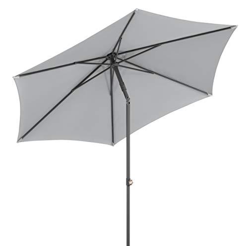 Schneider-Schirme Sevilla 270 cm Ø Sonnenschirme, Silbergrau