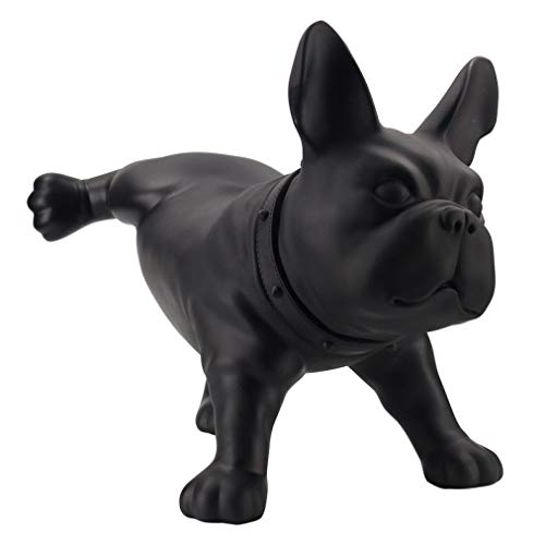 JDSHSO Modern Creative French Bulldog Dog Sculpture Model PE Plastic Crafts Pet Dog Statue Cute Puppy Figurine Home Decor