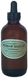 Rosehip Unrefined Oil Skin care Skin rejuvenation Pigment reduction Moisturizer 2.2 oz Amber Glass Bottle with Glass Dropper