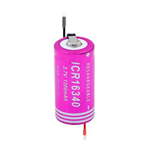 RitzyRose 16340 - Batería recargable de iones de litio de 3,7 V y 1200 mAh, baterías de repuesto Sf123A para mini ventilador 8 unidades