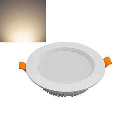 Foco empotrable ultrafino LED Downlight antiniebla LED Foco empotrado Foco Sala de estar Fondo Armario de pared Decoración Iluminación Luz de techo empotrada (Color: 4000K-15W)