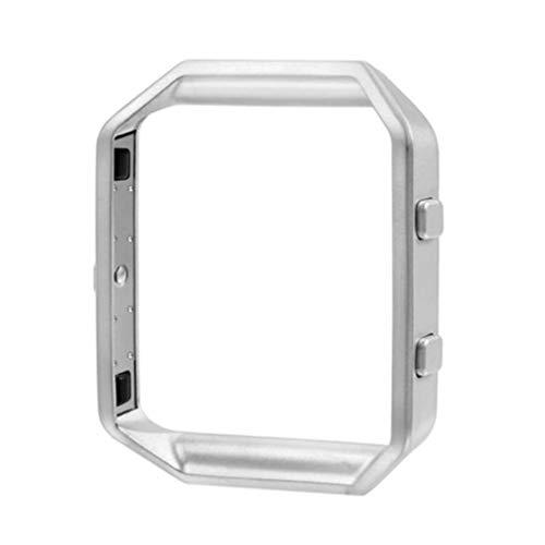 Scicalife Reloj Accesorio Marco de Reloj de Acero Inoxidable Marco de Metal Soporte Carcasa Carcasa para Reloj Inteligente Fitbit Blaze