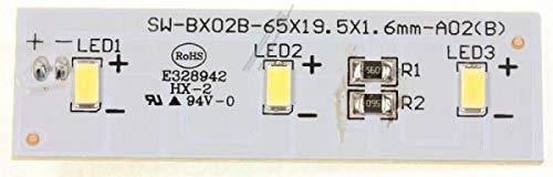 Original Candy Hoover 49031078 LED-Lichtplatte für Kühlschrank