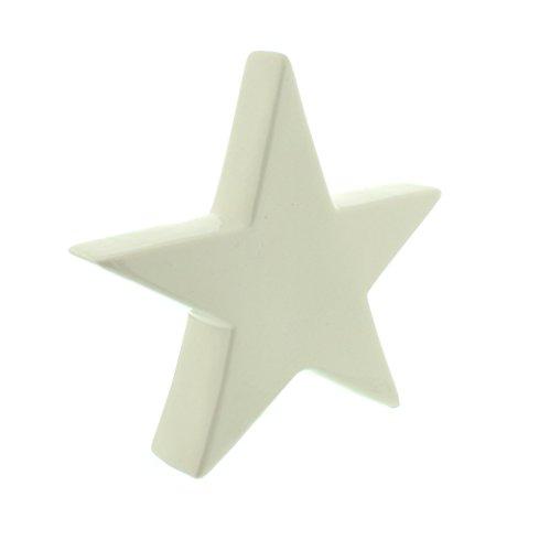 Festive Productions Porcellana Star, White-p, Microfibra, White, 20 x 16-inch