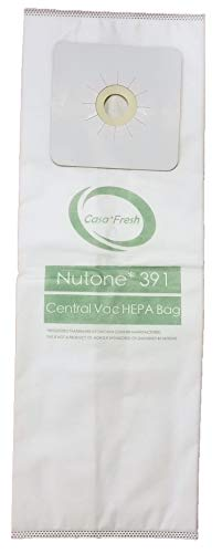Casa Fresh - HEPA Filtration - 3 PK Replacement for NuTone 391 Central Vacuum Bags Compatible with Nutone CV353, CV450, CV391, CV400, CV350,CV351 VX475 44186, CV352,CV653 CV750, CF3918