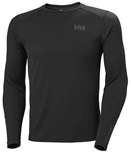 Helly Hansen Lifa Active Crew Camiseta Manga Larga, Hombre, Black, L
