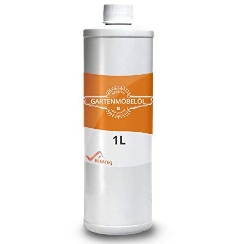 BEKATEQ Gartenmöbelöl 1l, Terrassenöl Teakholz Eukalyptus Holztisch Pflege Holzmöbel ölen BE-213 Holzpflegeöl