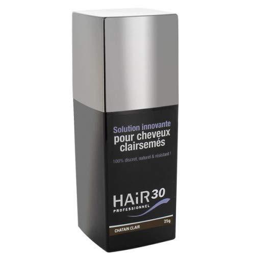 Hair30 Solution Innovante pour Cheveux Clairsemés Chatain Clair 25 g
