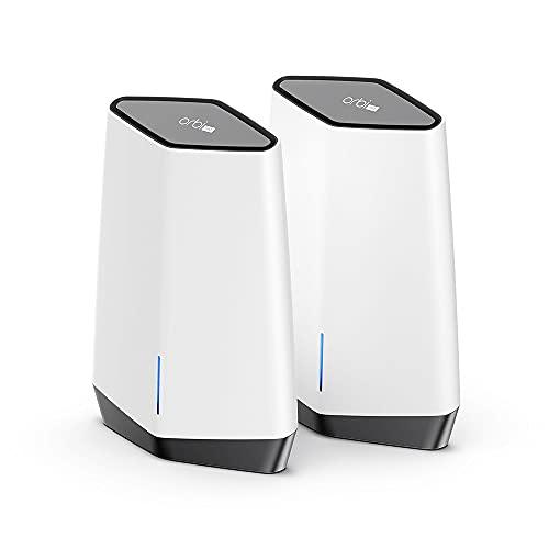 Netgear OrbiPro SXK80 WiFi6 TriBand Mesh WLAN System (AX6000 WiFi 6 Router + Satellit-Repeater für Zuhause und Unternehmen bis 6GBit/s, bis 400m² Abdeckung für vieleparallele Benutzer)
