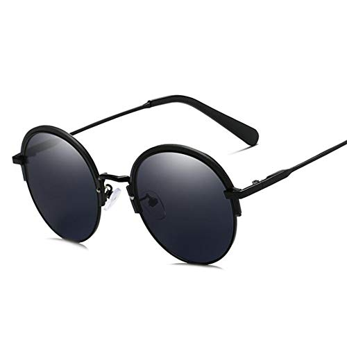 YIWU Brillen & Zubehör 2019 Die Neuen Europäischen Und Amerikanischen Trends Sonnenbrillen HD Round Frame UV-Unisex (Color : 1)