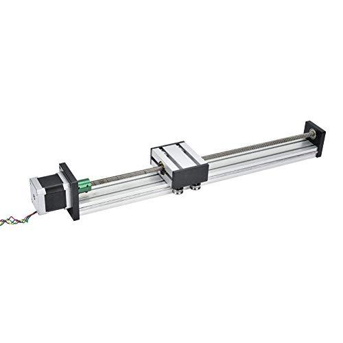 CENPEN Aleación de aluminio 0808 tornillo de bola de un solo eje trapezoidal carril de diapositiva lineal con motor 57 para la industria de la automatización (300mm)