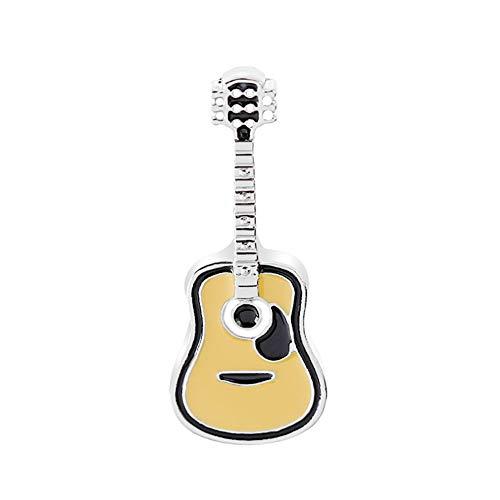 Momangel Americana Moda Retro Punk Guitarra Broche Bolsa Accesorios de Ropa Silver