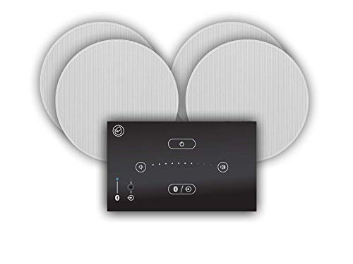 Systemline E50 Built-in Bluetooth Hi-Fi Speaker System and Q Acoustics Qi65CB Ceiling Speakers (2 Pair 6.5' Qi65CB Ceiling Speakers)