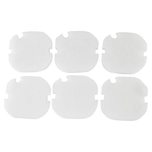 LTWHOME Remplacement Blanc Excellent Laine Filtration Tapis Convient pour AquaManta EFX 200 Filtre Extérieur (Paquet de 6)