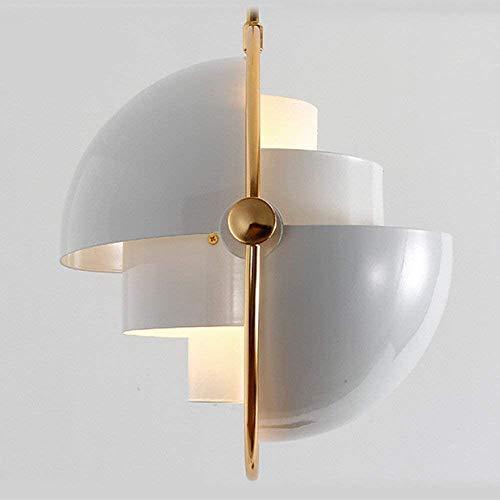 RedFeR - Lámpara de araña decorativa retro moderna industrial para dormitorio, habitación infantil, sala de decoración, personalidad, moda simple, blanco, rosa, rosa, pluma, candelabro