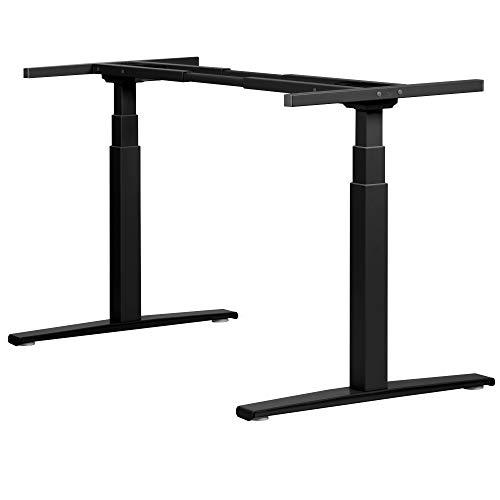 boho office® Basic Line - elektrisch stufenlos höhenverstellbarer Schreibtisch in Schwarz mit...