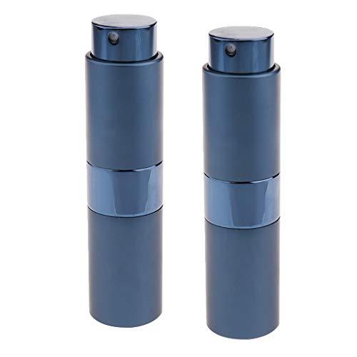 lahomia 2 Piezas Bomba de Muestra de Fragancia de Perfume Rotatorio Atomizador Portátil