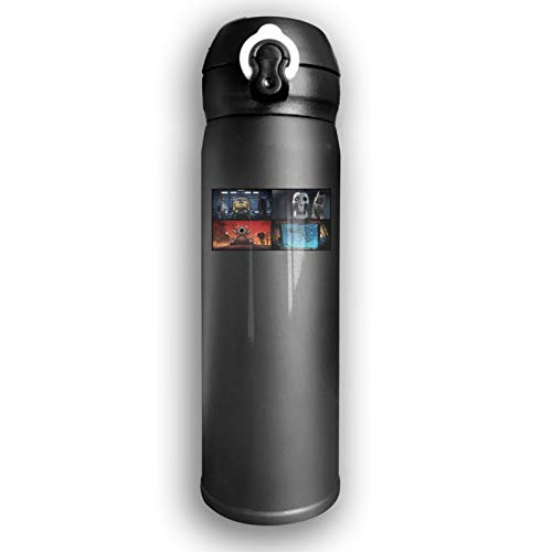 Lwjki Vacuum Insulated Stainless Steel Stainless Steel Thermal Bottle Love,Death&Robots Wallpaper Fashion Business Thermal Cup For Hot/Cold Drink Coffee Or Tea Black