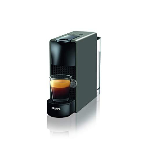 Nespresso Krups Essenza Mini XN110B - Cafetera monodosis de cápsulas Nespresso, compacta, 19 bares, apagado automático, color gris [Clase de eficiencia energética A+] (Reacondicionado)
