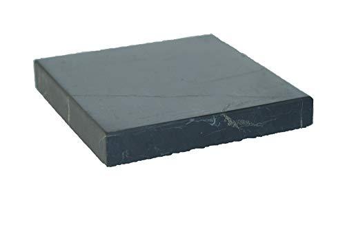 2 STÜCK Schungit Platten,10x10cm, je ca.250g. poliert, mit Echtheitszertifikat der Mine in Karelien!