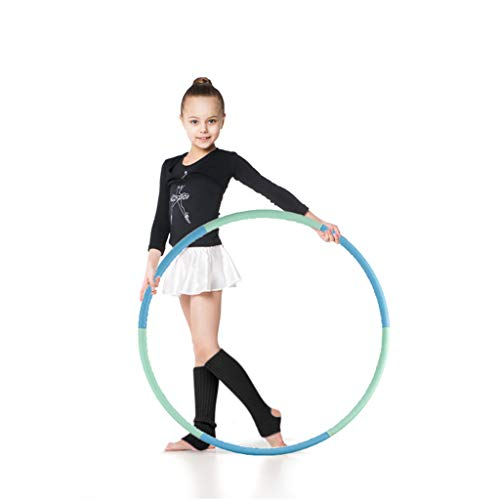 Review VENSEEN Hoola Hoop for Kids, Detachable Adjustable Weight Size Plastic Kid Hoola Hoop, Suitab...