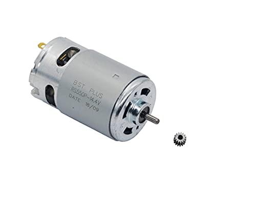 LOVELIN Lovelin17 Motor RS550 (15teeth Gear) 20000RPM 7.2V / 9.6V10.8V / 12V / 14V / 14.4V / 16.8V / 14.4V / 16.8V / 18V / 21V / 24V / 25V Ajuste para Bosch Makita Hitachi Taladro inalámbrico