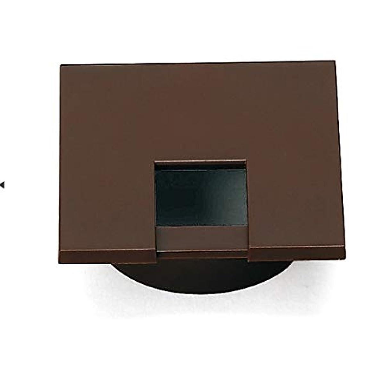 証人クリケット電子【LAMP】 スガツネ 配線孔キャップ LS50KS-DBR ダークブラウン 角型 片側はめ込みタイプ