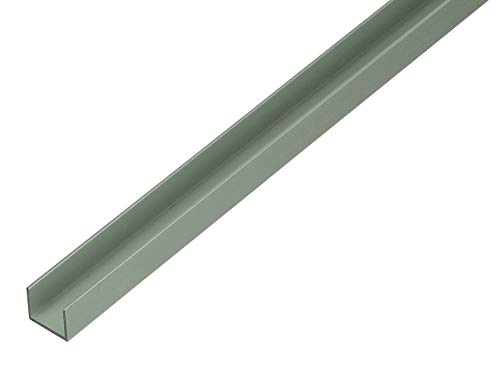 GAH-Alberts 485603 U-Profil | speziell für 16 mm starke Spanplatten | Aluminium, silberfarbig eloxiert | 1000 x 19 x 15 mm