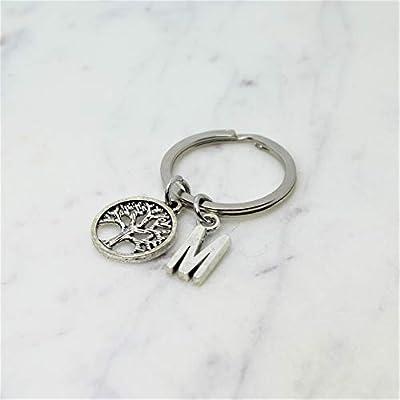 Porte-clé ARBRE DE VIE personnalisé | Porte clef FAMILLE | Porte-clé à initiale | Porte clef personnalisé | Cadeau personnalisé | Cadeau femme