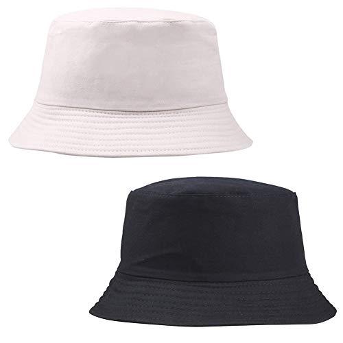 Sombrero De Pescador Hombre, Sombreros para Mujer Verano Playa Sol Color Sólido Tipo Borde Protección Pescador Sol Cubo Neutro Sombrero Regalos Originales para Mujer Cumpleaños Festival