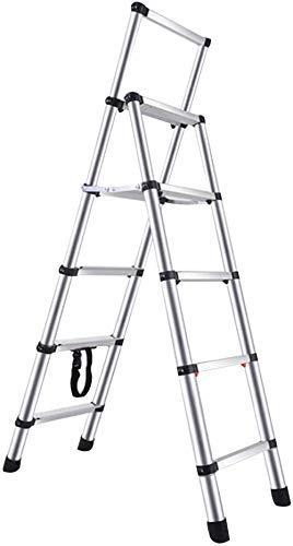 Escaleras portátiles ligeras Escalera de múltiples usos escalera de servicio pesado escalera plegable escaleras ligeras con aluminio robusto y pedal antideslizante ancho