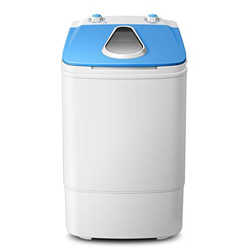 Small Washing Machine,Portable Washing Machine,Power of 240W, Load of 3.8 kg,with Single Tub Wash and Spin Dryer,For Apartments,Balcony Bathroom, Dorm Rooms,Camping More,Blue