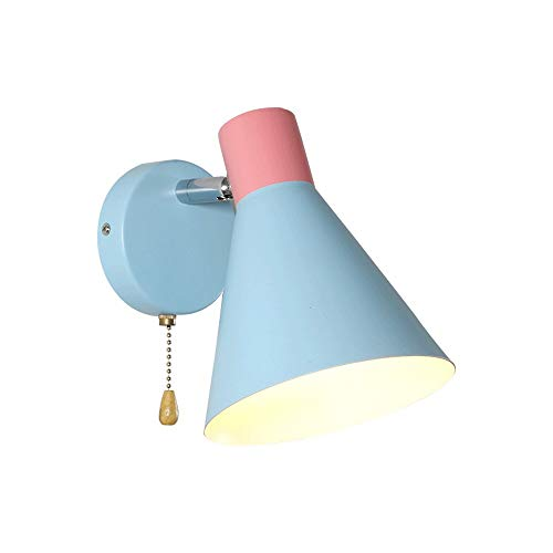 Siet Modern Metal Wall Sconence, E27 Lámpara de Pared de iluminación de la Base para el Dormitorio Sala de Lectura Viva Creativa Simple Lavado de la Pared de la Lavadora [Clase de energía A ++]