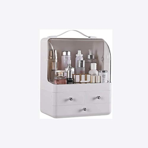 SMEJS Organizador de almacenamiento para cajones de cosméticos, caja transparente de 3 cajones, ideal para cualquier tocador o baño.