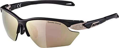 ALPINA TWIST FIVE HR S CM+ Sportbrille, Unisex– Erwachsene, nightshade matt-sepia, one size