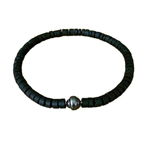 Perlenkette Turmalin schwarz Tahitiperle Collier mit Wechselschließe Nittel-System Länge 46 cm