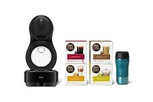 Nescafe Dolce Gusto KP130841 NESCAFE? Dolce Gusto Lumio Automatic coffee machine Black by Krups - 'Travel Kit' Pod, 1500 W, 1 Liter