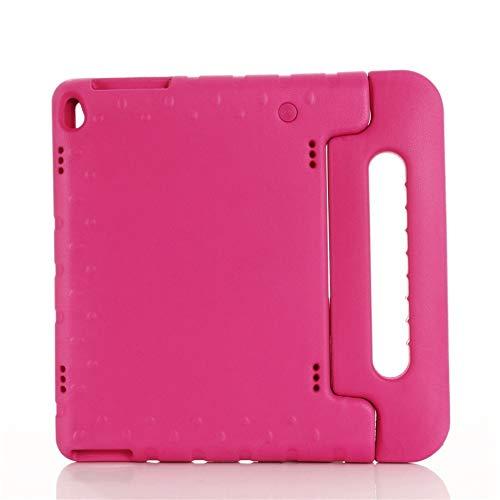 QiuKui Tab Funda para Lenovo P10 TB-Tab X705F X705M, a Prueba de Golpes niños EVA manija del Soporte de la Cubierta de Lenovo M10 Tab TB-X605 TB-X505F X505x (Color : Rose Red)