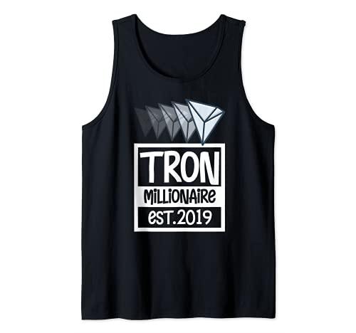 Tron Millionaire Shirt, BTC Crypto Cool TRX Coin Blockchain Canotta