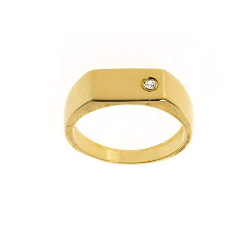 Men's Gold Diamond Signet Ring Heavy Hallmarked Size P - Z+4 Handmade to order at the Birmingham Jewellery Quarter