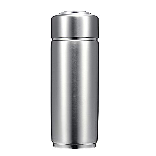 KUNSE Botella de Agua Filtrada Alcalina Alcalina Quantum de 400ml Quantum Bio Energy Botella de Agua Nano Ionizer Flask