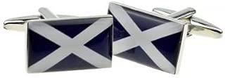 Scottish Flag Cufflinks with Gift Box