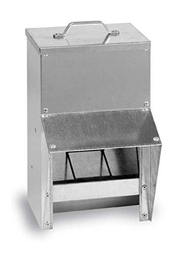 FINCA CASAREJO Tolva comedero de Exterior galvanizado. Material Inoxidable antilluvia. Comedero Exterior Chapa (8,5)