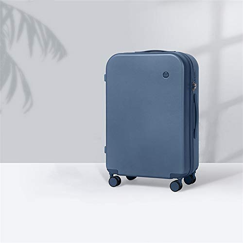 LRHD Portable Dirt-resistant Luggage, PC 4-wheel Aluminum Alloy Trolley Luggage, 24-inch 60L Frosted Scratch-resistant Luggage, Suitable for Travel, Business, Pink