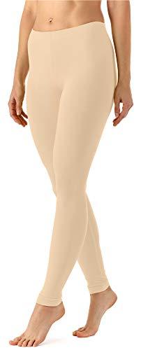 Merry Style Damen Lange Leggings aus Viskose MS10-143 (Beige, XXL)