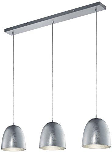 Trio Leuchten Pendelleuchte Ontario Glas, silberfarbig-foliert 305200389