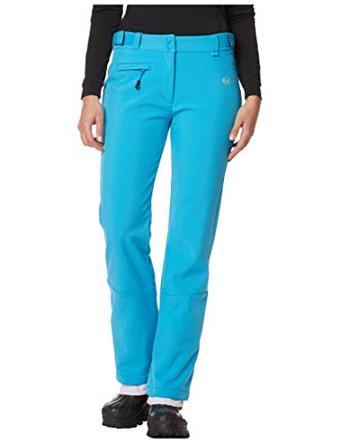 Ultrasport Advanced Pantaloni softshell Tilda da donna, pantaloni da sci, pantaloni da snowboard, Turchese, L